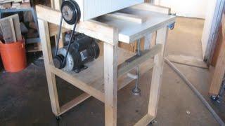 getlinkyoutube.com-DIY Drum sander / Thickness sander