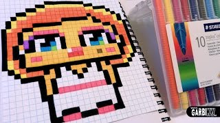 getlinkyoutube.com-Handmade Pixel Art  - How To Draw a Cute Marilyn Monroe by Garbi KW
