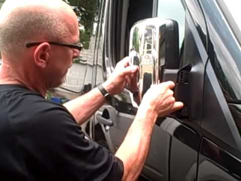 Chrome accents for Sprinter vans. Installed the right way.