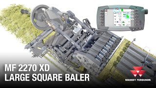 Massey Ferguson 2270 XD large square bale animation