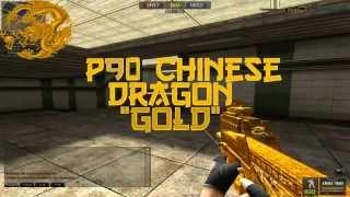 getlinkyoutube.com-Pack P90 chinese dragon gold Pointblank(creditos PINTA1)