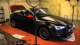 getlinkyoutube.com-Audi A5 S Line Brushed Black Metallic wrap from Gold Mirror Carbon GSTARWRAPS