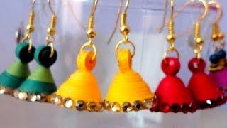 Quilling Jhumka Earrings Making