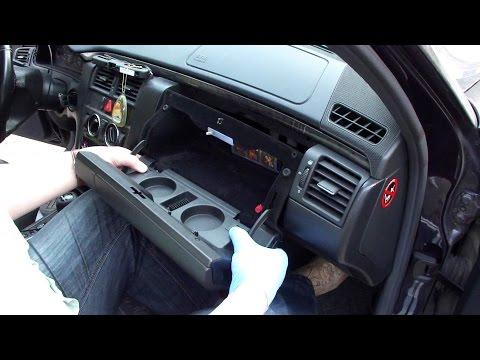 Снятие и ремонт бардачка Merceds W210 Glove Box Repair