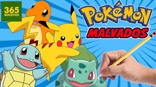 getlinkyoutube.com-COMO DIBUJAR A PIKACHU Y POKEMONS EN MALVADOS - Pikachu evoluciona en malvado