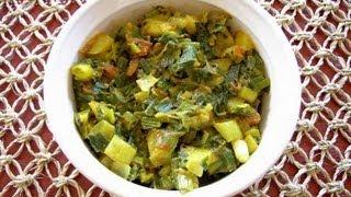 Hare Pyaaz Ki Sabzi (Onion Greens Vegetable)