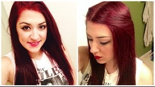 getlinkyoutube.com-How To Dye Dark Hair RED Without BLEACH!