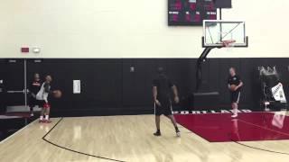 getlinkyoutube.com-Blazers' Damian Lillard, CJ McCollum shoot threes