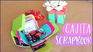 Cajita scrapbook // carta + regalo original [Exploding box] - 14 feb ✄ Craftingeek