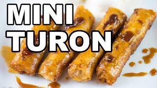 getlinkyoutube.com-Mini Turon (Banana Egg Roll with Caramel)