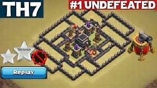 getlinkyoutube.com-BEST TH7 War Base [ANTI DRAG] with REPLAY - Town Hall 7 - Clash of Clans