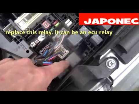 Toyota Avensis fault code reset P1604 no start efi relay?