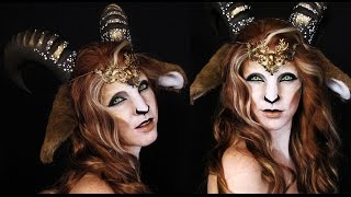 getlinkyoutube.com-Faun Makeup Tutorial | Mythological Creatures Collaboration