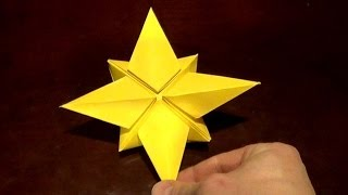 getlinkyoutube.com-North Star Origami Tutorial - How to make an Origami North star