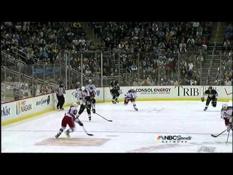 Evgeni Malkin goal. NY Rangers vs Pittsburgh Penguins 4/5/12 NHL Hockey