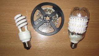 getlinkyoutube.com-Светодиодная лампочка своими руками. LED Lamp from old fluorescent bulb