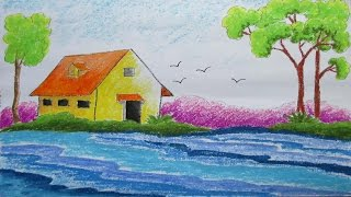 Pastel Drawing | How to Draw a Scenery | Episode-7