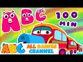ABC Train Song | ABC Songs for Children & Nursery Rhymes | 100 Minutes Compilation for Kids