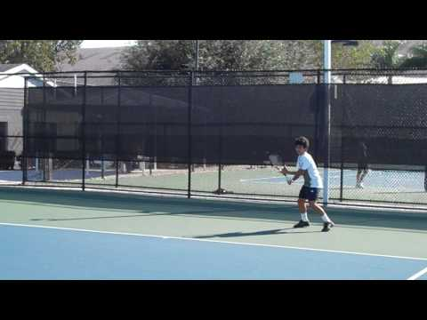 Young Hyeon Chung Practicing at Nick Bollettieri Tennis Academy