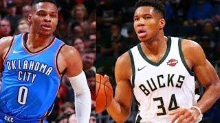 Russell Westbrook vs Giannis Antetokounmpo! Thunder vs Bucks! 2017-18 NBA Season