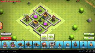 getlinkyoutube.com-Clash Of Clans - TH 4 / HdV 4 Farming  (Speed Building)