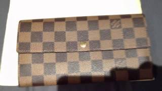 getlinkyoutube.com-Louis Vuitton DE Sarah Wallet (Unboxing)