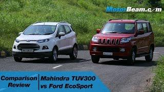 Mahindra TUV300 vs Ford EcoSport - Comparison Review | MotorBeam