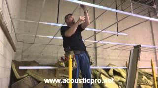 getlinkyoutube.com-Drop Ceiling Grid n Tile Acoustical Install Video  ( Acoustic Pro )