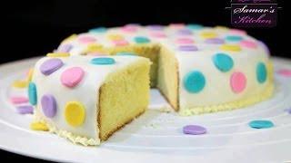 getlinkyoutube.com-تلبيس وتزيين كيكة السكر من مطبخ سمر-Fondant Decoration