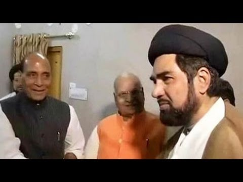 BJP chief Rajnath Singh meets Muslim clerics in Lucknow