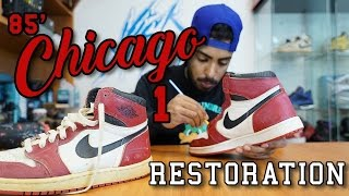 getlinkyoutube.com-Restorations With Vick - Original 1985 Air Jordan Chicago 1's Restoration