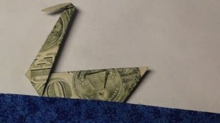 getlinkyoutube.com-Easy Dollar Bill Swan Origami Tutorial - Moneygami Traditional Japanese Swan