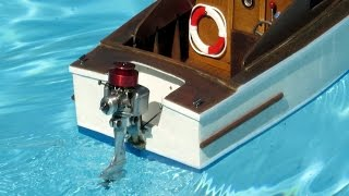 getlinkyoutube.com-Nitro outboard engine  on a RC model boat ( part I)