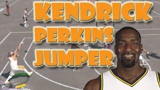 getlinkyoutube.com-Kendrick Perkins JumpShot WETTTTT BOiiiii !! - NBA 2K15