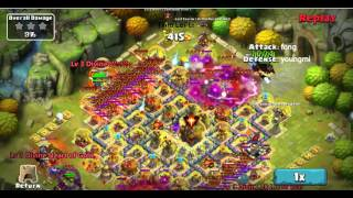 getlinkyoutube.com-Clash of Lords 2 - Attacking Base with Enchantress