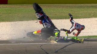 getlinkyoutube.com-MOTOGP 2016 Aragon GP Crashes Compilation #14