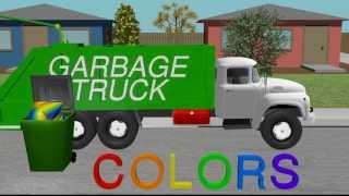 getlinkyoutube.com-Color Garbage Truck - Learning for Kids