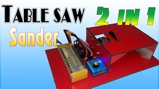 getlinkyoutube.com-How to make Table Saw and Sander Machine - 2 in 1 powerful