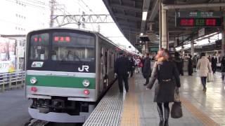 getlinkyoutube.com-【埼京線】205系池袋上り入線発車 女性車掌の発車メロディ MellowTime 朝ラッシュ