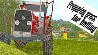 getlinkyoutube.com-UTH17 - Preparing grass for baling in South-east Slovenia