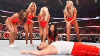 getlinkyoutube.com-Raw: Divas Baywatch Babe Triple Threat Tag Match