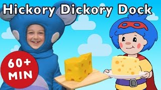 getlinkyoutube.com-Hickory Dickory Dock and More | Nursery Rhymes from Mother Goose Club!