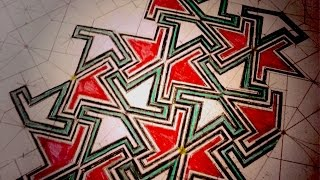 getlinkyoutube.com-How To Draw Geometric Patterns - Moorish Wedge Tiling