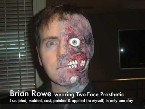 Prosthetic Makeup on De Two Face Prosthetic Mov En Youtube   Two Face Prosthetic Makeup