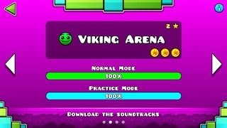 "getlinkyoutube.com-Geometry Dash Meltdown: ""Viking Arena"" 100% Complete [All Coins] - GuitarHeroStyles"