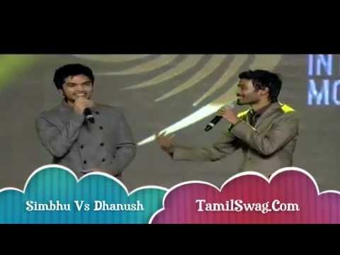 SIMBHU and DHANUSH Dance Sing Kolaveri Di Song ON AWARD SHOW