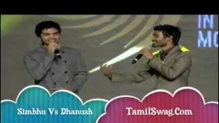 getlinkyoutube.com-SIMBHU and DHANUSH Dance Sing Kolaveri Di Song ON AWARD SHOW