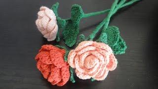 getlinkyoutube.com-Вязаная роза Rose Crochet