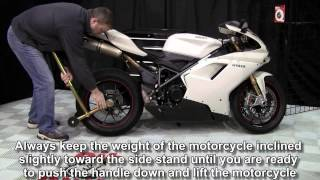 getlinkyoutube.com-Pit Bull Hybrid One Armed Rear Stand Single sided swingarm stand