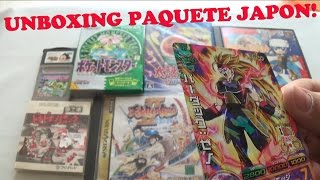 getlinkyoutube.com-Unboxing Paquete Japón Sega Saturn, Famicom Disk, Game Boy, PS1 & Dragon Ball Heroes Promos